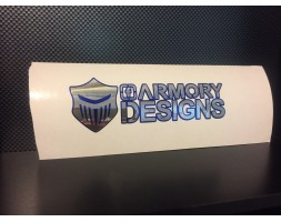Armory Logo V3 Two Toned (Silver letters Blue chrome outline)